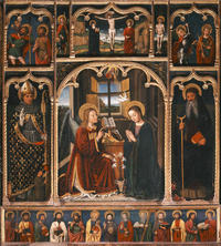 Retable de l'Annonciation, Louis Bréa, 1499 (photo Michel Graniou, Département 06)