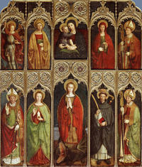 Retable de Sainte-Marguerite, Louis Bréa, vers 1498-1500 (photo Michel Graniou - Département 06)