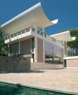 La Fondation Maeght, vue de la cour Giacometti © Archives Fondation Maeght, Saint-Paul de Vence